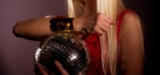 holka s disco kouli